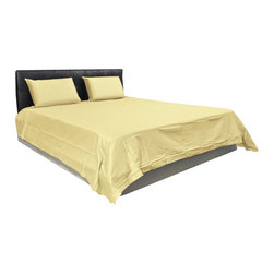 AVEREST LINENS - 500 Thread Count Solid Sheet Set in Twin Size - 100% Egyptian Cotton, Beige - Wrap yourself in these 100% Egyptian Cotton Luxurious bedding items that are truly worthy of a classy elegant suite. Comfort, quality and opulence set our Luxury Bedding in a class above the rest. Elegant yet durable, their softness is enhanced with each washing. You will relax and enjoy the rich, soft and luxurious feeling of cotton Sheet Set.