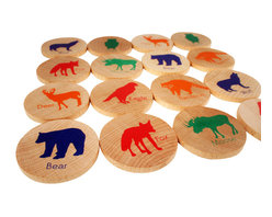 Tree Hopper Toys - Match Stacks - Woodland Animals - A Tree Hopper twist on a classic educational game! MATCH STACKS is a durable, portable, and super cute memory and matching game.