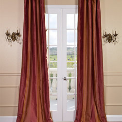 Woodbury Taffeta Silk Stripe Curtains & Drapes - Woodbury Silk Taffeta Stripe Curtains & Drapes: HPD'S exclusive Silk and Taffeta drapes & curtains represent extravagant luxury with beautiful details. Tailored from the finest silks, our designer silk drapes are destined to become a focal point of any room. Their unique traditional designs have been hand picked by some of the most acclaimed Interior Designers.
