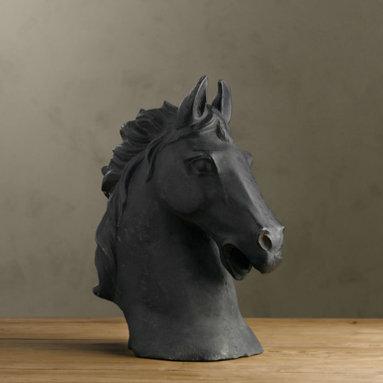 Cast Horse Bust -