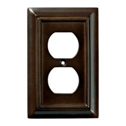 Liberty Hardware - Liberty Hardware 126340 Wood Architectural WP Collect 3.15 Inch Switch Plate - The Liberty Architectural Wood 1-Gang Espresso Duplex Outlet Wallplate is made from MDF for durability and features elegant styling and a rich finish. It houses 1 duplex outlet and conveniently includes mounting hardware. Width - 3.15 Inch, Height - 5 Inch, Projection - 0.4 Inch, Finish - Espresso, Weight - 0.13 Lbs.