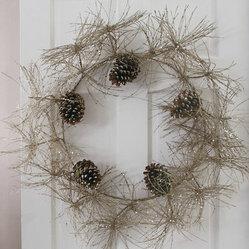 Sparkle Pinecone Wreath