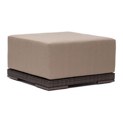ZUO - Park Island Ottoman - Deep, inviting cushions make the Park Island seats your favorite place to be. An aluminum frame with a polypropylene weave is complemented by water-resistant overstuffed cushions. Pieces sold separately.