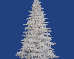 """Vickerman A893681 9' x 67"""" Prelit Dura-Lit® Flocked Spruce Christmas Tree - Get 10% discount on your first order. Coupon code: """"houzz"""". Order today."""