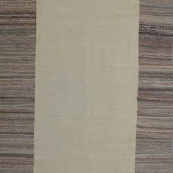 "ALRUG - Handmade Beige Oriental Kilim  6' 6"" x 9' 11"" (ft) - This Afghan Kilim design rug is hand-knotted with Wool on Wool."