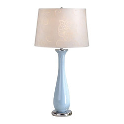 Laura Ashley - Laura Ashley BTP401 Siena Ceramic Table Lamp Base Sky Blue - Laura Ashley BTP401 Siena Ceramic Table Lamp Base Sky Blue