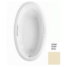 American Standard 69-1/4-in x 38-1/2-in Ellisse Bone Oval Drop-In Bathtub with R