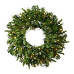 """Vickerman - Cashmere Wreath Dura-Lit 400CL (72"""") - 72"""" Cashmere Pine Wreath   760 PE/PVC Tips,  400 Dura-Lit Clear Lights"""
