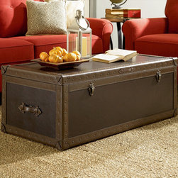 """Hammary - Hidden Treasures Trunk Cocktail - """"Hammary's Hidden Treasures collection is a fine assortment of unique accent pieces inspired by some of the greatest designs the world over. Each selection is rich in Old World icons and traditions."""