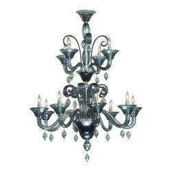 Cyan Design - Cyan Design Twelve Lamp Chandelier in Indigo Smoke - Twelve Lamp Chandelier in Indigo Smoke