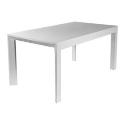 Eurostyle - Eurostyle Adara Rectangular Butterfly Leaf Dining Table in White Lacquer - Rectangular Butterfly Leaf Dining Table in White Lacquer belongs to Adara Collection by Eurostyle From a little over 5 feet to almost 7 feet, the Adara dining table is built to be a formidable centerpiece in any space that calls for a sturdy and beautiful table. High gloss finish is both clean and easy to clean. Dining Table (1)