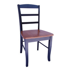 International Concepts - International Concepts Madrid Wood Side Chairs in Black and Cherry Finish - International Concepts -Dining Chairs -C572P