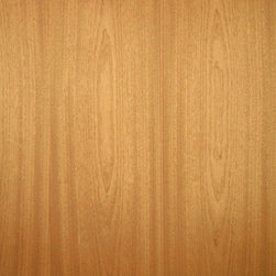 Flat Cut Sapele Veneer - Sapele veneer is a medium pinkish to reddish brown wood with a nice medium consistent grain. It can be a nice alternative to South American Mahogany or when quarter cut it can have a distinct ribbon stripe grain. Available on variety of backers and sizes.