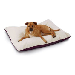 Hidden Valley Products - SuperSoft Ultra Dog Bed - SSU/PAW/M - Shop for Beds Covers and Fill from Hayneedle.com! The SuperSoft Ultra Dog Bed is filled with Hypro-Loft an exclusive blend of virgin and recycled fibers which provides unequalled loft retension. The liner will not shift or mat allowing to stay true to form even after washings. Completly machine washable the ultra bed has a sherpa top and cotton or nylon bottom which removes for easy cleaning. Super Soft Ultra Dog Bed Sizes: Medium: 25 x 33 inches Large: 30 x 40 inches X-Large: 36 x 48 inches Poly-Suede is quality brushed microsuede fabric heavy duty 12 oz. 100% polyester with added backing for strength and durability washable and easy care comfort at its finest add a touch of luxury with this top-rated microsuede in a collection of colors to match any home decor.