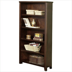 Kathy Ireland Home by Martin Furniture - Tribeca Loft 5 Shelf Open Wood Bookcase - Tribeca Collection Bookcase