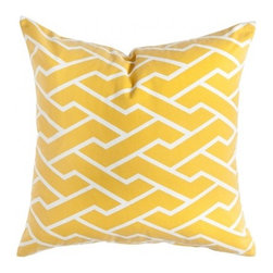 Mustard City Maze Pillow - Price varies by size $60 to $75. 5 sizes available.