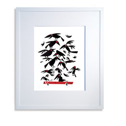 Crows on Car Print - Limited edition signed screen print