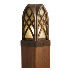 Kichler - Kichler Cathedral Outdoor Post/Pier in Red - Shown in picture: Post light 12V in Textured Tannery Bronze