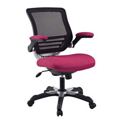 Modway - Edge Office Chair in Red - Welcome to a new era in functional comfort. The Edge office chair combines old time charm with cutting edge ergonomics to deliver one comprehensive seating experience. Every feature imaginable in a chair is available as soon as you sit down. This is a chair that you can conform to behave exactly how you need it.The Edge Office Chair giving you the comfort you need when you need it most.