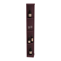 Wine Racks America - Quarter Round Wine Display in Pine, Burgundy - Highly decorative Quarter Round Wine Displays are the perfect solution to racking around corners. Designed with a priority on functionality, these wine storage units are excellent as end caps to walls of wine racking or as standalone shelving.