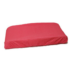 "Simplicity Hot Pink - Changing Pad Cover - Changing pad cover comes in the ""polka dot"" signature fabric in cotton.  Also available in sets!"