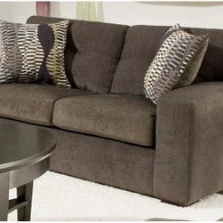 Chelsea Home Rockland Loveseat - Hematite Gray - Just enough structure to fancy it up, the Chelsea Home Rockland Loveseat - Hematite Gray has the kind of comfort you'll want to lounge on all day. The gray upholstery and ultra agreeable construction make this a favorite for everyone.About Chelsea Home FurnitureProviding home elegance in upholstery products such as recliners, stationary upholstery, leather, and accent furniture including chairs, chaises, and benches is the most important part of Chelsea Home Furniture's operations. Bringing high quality, classic and traditional designs that remain fresh for generations to customers' homes is no burden, but a love for hospitality and home beauty. The majority of Chelsea Home Furniture's products are made in the USA, while all are sought after throughout the industry and will remain a staple in home furnishings.