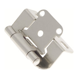 Belwith / Hickory - Belwith Hickory Satin Nickel Surface Self-Closing Hinge (2-Pack) P2710F-SN - Functionalism is the principal that design is based on the purpose of that piece.  Hinges, hooks, catches, drawer slides and screws.  All designed for a specific purpose and necessary in every home.. Product Name: Satin Nickel Surface Self-Closing Hinge (2-Pack)Finished: Satin Nickel FinishIncluded: Mounting Hardware IncludedSize . Type: Screw Center to Center in Inches: Diamter: Diamension Length in Inches: 2.25Diamension Width Inches: 1.35Diamension Height Inches: 1.57Weight in OZ: 4Product . Type: HingesStyle: FunctionalFinish Name: Satin NickelAppearance . Finish: Satin (Brushed)Color Palette: Silvers/GreysBasic Shape: Geometric/Angular
