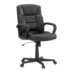 Sauder - Sauder Manager Chair Leather Black in Chair Black - Sauder - Office Chairs - 414345