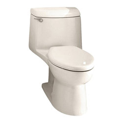 "American Standard - American Standard 2004.014.222 Champion 4 Elongated One-Piece Toilet, Linen - American Standard 2004.014.222 Champion 4 Elongated One-Piece Toilet, Linen. This elongated combination toilet features a vitreous china construction, an EverClean surface, a 4"" piston action Accelorator flush valve, a 2-3/8"" fully-glazed trapway, an elongated siphon action bowl, and a 12"" Rough-in. This model measures 29-3/4"" by 17-3/4"" by 28-1/8"", and it comes with the bolt caps, but no seat."