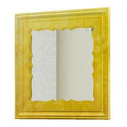 "Damasco 31"" 1/2 framed mirror. Gold fantasy. - Damasco mirror 31"" 1/2. Gold fantasy."