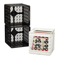 Supreme Crate - These crates only come in black or white, but they are big enough to store your record collection.