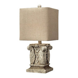 Dimond Lighting - 93-10014-LED Wymore Table Lamp, Vintage White - Traditional Table Lamp in Vintage White from the Wymore Collection by Dimond Lighting.