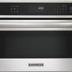 """KitchenAid - KBHS109BSS Architect Series II 30"""" 1.4 cu. ft. Capacity Built-In Convection Micr - Optimawave Technology allows this 30-inch built-in microwave oven to operate at a true power level between 10-100 for consistent even cooking similar to your full-size oven or range Convection cooking options are made easy to use with our EasyConvect..."""