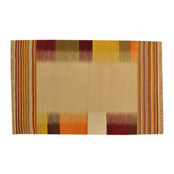 Colorful Durie Kilim Flat Weave 4'x6' Reversible Hand Woven Oriental Rug SH15675 - Soumaks & Kilims are prominent Flat Woven Rugs.  Flat Woven Rugs are made by weaving wool onto a foundation of cotton warps on the loom.  The unique trait about these thin rugs is that they're reversible.  Pillows and Blankets can be made from Soumas & Kilims.