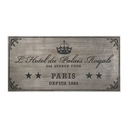 Uttermost - Uttermost Palais Royale Plaque Art 13856 - Wall plaque features an antiqued silver leaf finish with dusty black, embossed details.
