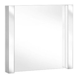 Keuco - New Elegance Vertically Illuminated Light Mirror USA | Keuco - Made in Germany by Keuco.A part of the New Elegance Collection. The New Elegance Vertically Illuminated Light Mirror USA is a bathroom addition that will not go unnoticed. Complete with all the modern amenities expected from a fully functional bathroom mirror with the added luxury of two supremely designed lighting elements. The additional lights fully illuminate both the room as well as the mirror itself, providing an optimally lit environment with every use. Product Features: