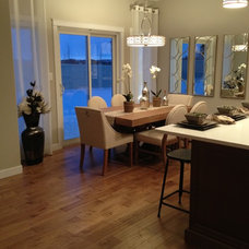 Contemporary Hardwood Flooring Edmonton Showhomes