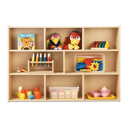 Young Time - Young Time Three Shelf Storage - Toys not included. Abundant space for supplies and books. Durable laminate surface. Rounded corners. Thermo-fused edgebanding. Safety tested product. Greenguard Children and Schools SM indoor air quality certified. CPSIA and CARB compliant. Warranty: 1 year. Made in USA. Assembly required. 48 in. W x 12 in. D x 32.5 in. H (65 lbs.)Young Time is for budget-minded buyers seeking to get the most for their classroom furniture dollar. Young Time offers affordable, American-made early learning furniture designed with a focus on the functionality you need most!