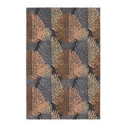 Chandra Rugs - Hand-Tufted Designer Wool Rug ALF2108 - 7'9 x 10'6 - Hand-tufted Designer Wool Rug - ALF2108 - 7'9 x 10'6