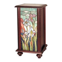 Dale Tiffany - New Dale Tiffany Iris Pedestal Lamp Cherry - Product Details