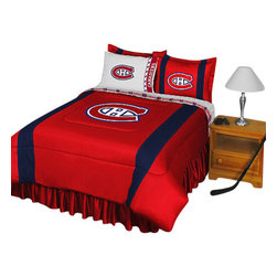 Store51 LLC - NHL Montreal Canadiens Bedding Set Hockey Bed, Twin - Features: