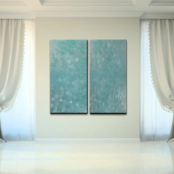 Ready2hangart - Alexis Bueno 'Abstract Spa' Canvas Wall Art (Set of 2) - Artist: Alexis Bueno Title: Abstract Spa Product type: Gallery Wrapped Canvas Art