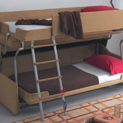 Palazzo Sofa Bunk Bed System - This is one of the most fabulous ideas: a sofa that turns into bunk beds! I couldn't for the life of me comprehend how someone figured all this out, but I think it is a great idea, especially for kids.