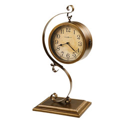 """Howard Miller - Howard Miller Jenkins 21"""" Tall Mantel Clock in Antique Brushed Brass - Howard Miller - Mantel / Table Clocks - 635155 - For over 70 years Howard Miller has understood the need to create products that are steeped in quality and value and to never expect anything less than the best. No matter the price of the purchase you have Howard Miller's assurance of quality that is reflected in both the products they create and in the people whose artistic talents they rely on to manufacture them. Incomparable workmanship. Unsurpassed quality. A quest for perfection."""