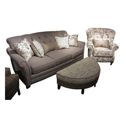 Chelsea Home Furniture - Chelsea Home 3-Piece Living Room Set in Lindy Chinchilla with Accent Pillows - Port Edwards 3-Piece living room set in Lindy Chinchilla with Accent Pillows belongs to the Chelsea Home Furniture collection