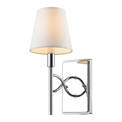 Golden Lighting - Golden Lighting 9106-1W CH-OPL 1 Light Wall Sconce w/ Opal Shade - A classic form with modern details makes the Taylor collection a truly transitional style