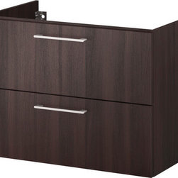 IKEA of Sweden - GODMORGON Sink cabinet with 2 drawers - Sink cabinet with 2 drawers, black-brown