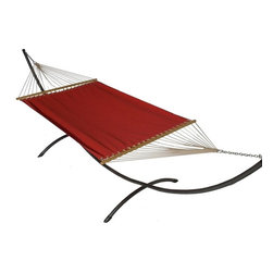 Phat Tommy - Sunbrella Hammock Set in Jockey Red - The Phat Tommy Sunbrella Hammock is also part of our Outdoor Oasis Line and is our most durable and beautiful outdoor hammock.