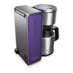 """Panasonic - Panasonic 8 Cup Coffee Pot Violet - Integrated power cord storage.  Stainless Steel """"Keep Warm"""" carafe.  8 cup capacity.  Aroma selector."""