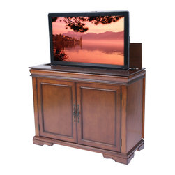 "Tremont TV Lift Cabinet For Flat Screen TV's Up To 46"" - The Tremont is the go-to unit for our customers looking to make the most of tight spaces. Perfect for apartments, townhomes or any space-conscious interior, the Tremont offers an elegant alternative to our full-sized product line."